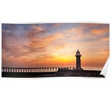 Sunrise from Whitby Pier Poster