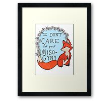 Feminist Fox Framed Print