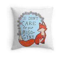 Feminist Fox Throw Pillow