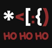 Emoticon Santa Claus Ho Ho Ho One Piece - Short Sleeve