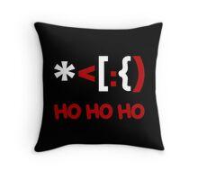 Emoticon Santa Claus Ho Ho Ho Throw Pillow