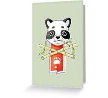 Panda Banner Greeting Card