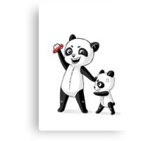 Panda Brothers Canvas Print