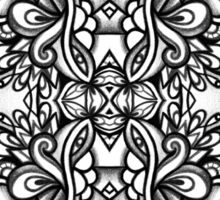 SYMMETRY - Design 006 (B/W) Sticker