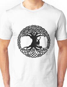 Deer & Celtic Tree Unisex T-Shirt