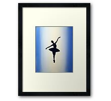 dance ballerina art print artwork ballet sport girl pretty cute Framed Print