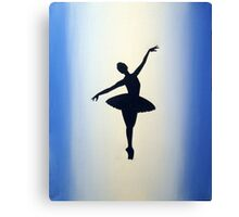 dance ballerina art print artwork ballet sport girl pretty cute Canvas Print