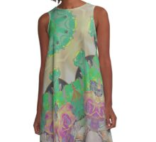 Meerkat Autumn Ice Sky A-Line Dress