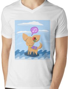 Fan-Sea Fennec Mens V-Neck T-Shirt
