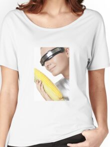 Cyber Woman With Corn Women's Relaxed Fit T-Shirt
