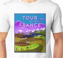 TOUR DE FRANCE; Bicycle Racing Advertising Print Unisex T-Shirt