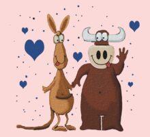 Kangaroo & Bull love Kids Clothes