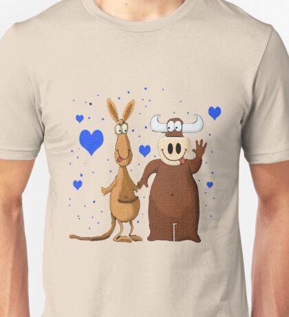 Kangaroo & Bull love T-Shirt