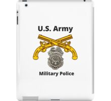 Military Police Pistols and Badge iPad Case/Skin