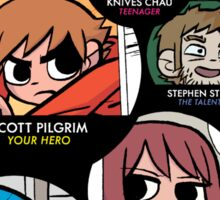 Scott Pilgrim characters Sticker