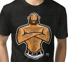 Happy Hairy Bear 1 Tri-blend T-Shirt