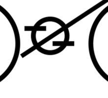 minimalist bicycle Sticker
