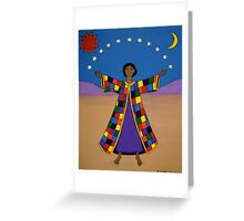 Joseph and His Coat of Many Colours Greeting Card