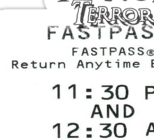 The Tower of Terror- Fast Pass Sticker