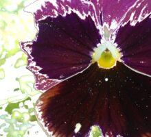 A Glitch in the Flower Matrix Sticker