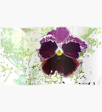 A Glitch in the Flower Matrix Poster