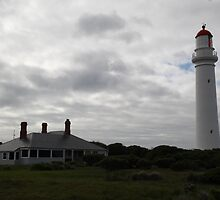 Dramatic Lighthouse on Hill by deanworld