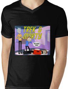 Trek & Morty Mens V-Neck T-Shirt