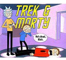 Trek & Morty Photographic Print
