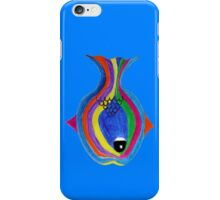 Multicolor acrylic painting of a fish iPhone Case/Skin