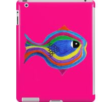 Multicolor acrylic painting of a fish iPad Case/Skin