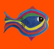 Multicolor fish Kids Clothes