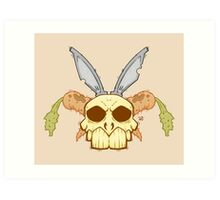 Old Rabbit Skull Art Print