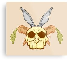 Old Rabbit Skull Metal Print