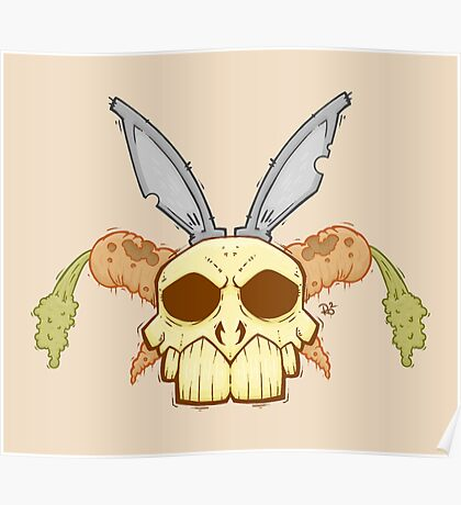 Old Rabbit Skull Poster