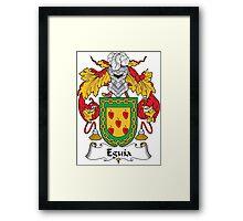 Eguia Coat of Arms (Spanish) Framed Print