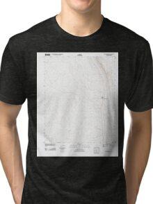 USGS TOPO Map Arizona AZ Willow Springs 20111027 TM Tri-blend T-Shirt