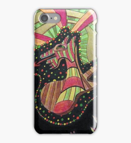 407 - DRAGON GUITAR - DAVE EDWARDS - MIXED MEDIA - 2014 iPhone Case/Skin