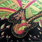 407 - DRAGON GUITAR - DAVE EDWARDS - MIXED MEDIA - 2014 by BLYTHART