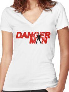 Danger Man AKA Man of Danger Women's Fitted V-Neck T-Shirt