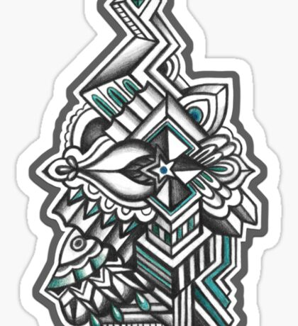 Abstract Dimensions (Color) Design 008 Sticker