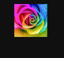 Beatiful Colorful Rainbow Rose Womens Fitted T-Shirt