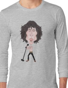 Funny Caricature Classic Rock 60's Long Sleeve T-Shirt