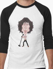 Funny Caricature Classic Rock 60's Men's Baseball ¾ T-Shirt