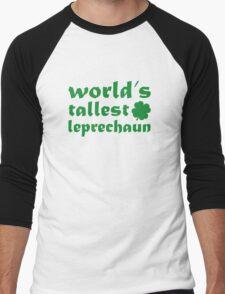 World's Tallest Leprechaun Men's Baseball ¾ T-Shirt