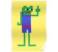 Very Retro Pepe Poster