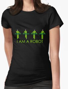 PIXEL8 | Power Station NEON | I AM A ROBOT Womens Fitted T-Shirt