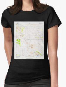 USGS TOPO Map Arizona AZ Squaretop Hills 315068 1958 62500 Womens Fitted T-Shirt