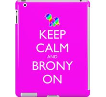 Keep Calm and Brony On - Pink / Dark Red iPad Case/Skin