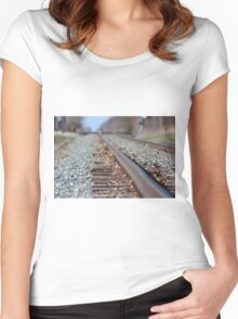 Tracks to the Future Women's Fitted Scoop T-Shirt