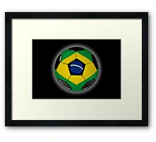 Brazil - Brazilian Flag - Football or Soccer Framed Print
